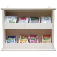 Hanging tea shelf 2x4