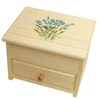 Jewellery box with a forget-me-not
