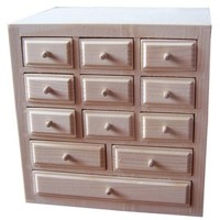 Box with twelve drawers