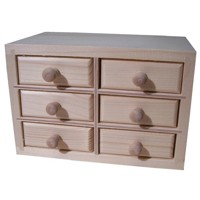 Box with six drawers