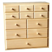 Box with eleven drawers