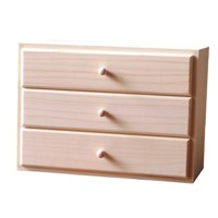Box with three drawers