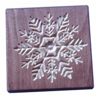 Glass coaster snowflake (mahagony)