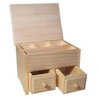 Angular jewellery box, varnished