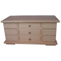 Large jewellery box with side drawers
