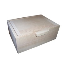 Wooden box with a handle