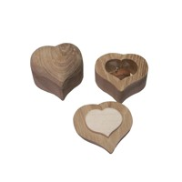 Wooden box heart – oak wood
